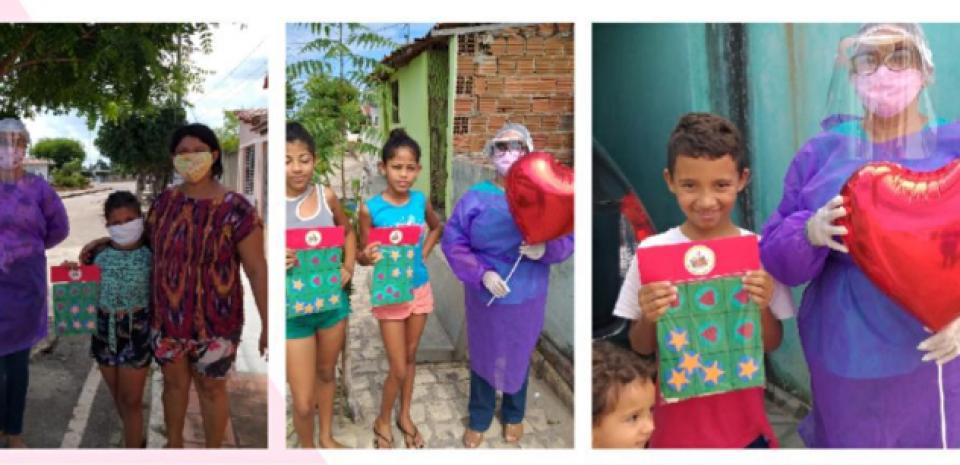 Entrega de Kits com jogos educativos – para as crianças do SCFV